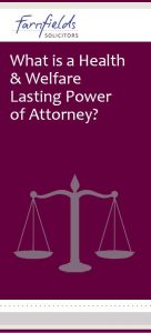 What is Health and Welfare Lasting Power of Attonery? preview