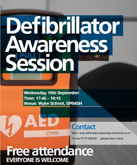 Defibrillator Awareness Community Training this September image